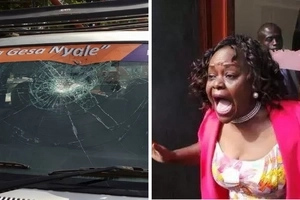 Millie Odhiambo accosted in her constituency, supporter BADLY injured