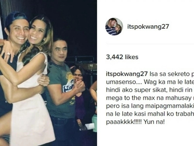 Pokwang slams a blog site over misleading information linking JC Santos on her Instagram post