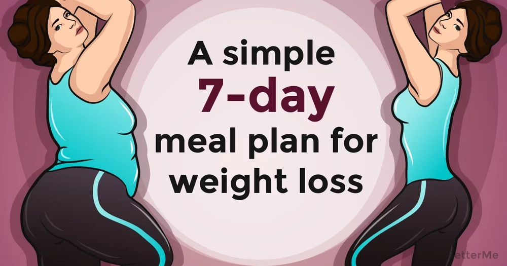 A simple 7-day meal plan for weight loss