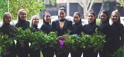 Bride chooses to break with tradition and wears black on her wedding