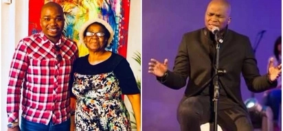 """Dr Tumi sends adorable message to his """"young"""" mother on her 70th birthday"""