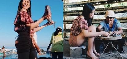 Ang gandang mangingisda naman! Gabbi Garcia catches own fish and lives like a local in Antique