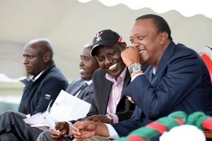 EXTREMELY controversial video emerges showing Uhuru and Ruto giving KSh 70 million in cash in a harambee