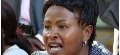 Wavinya Ndeti reacts after her election petition was thrown out