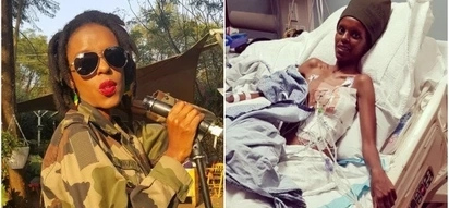 Heartbreaking photos of Njambi Koikai days after flying to U.S for life saving treatment move many
