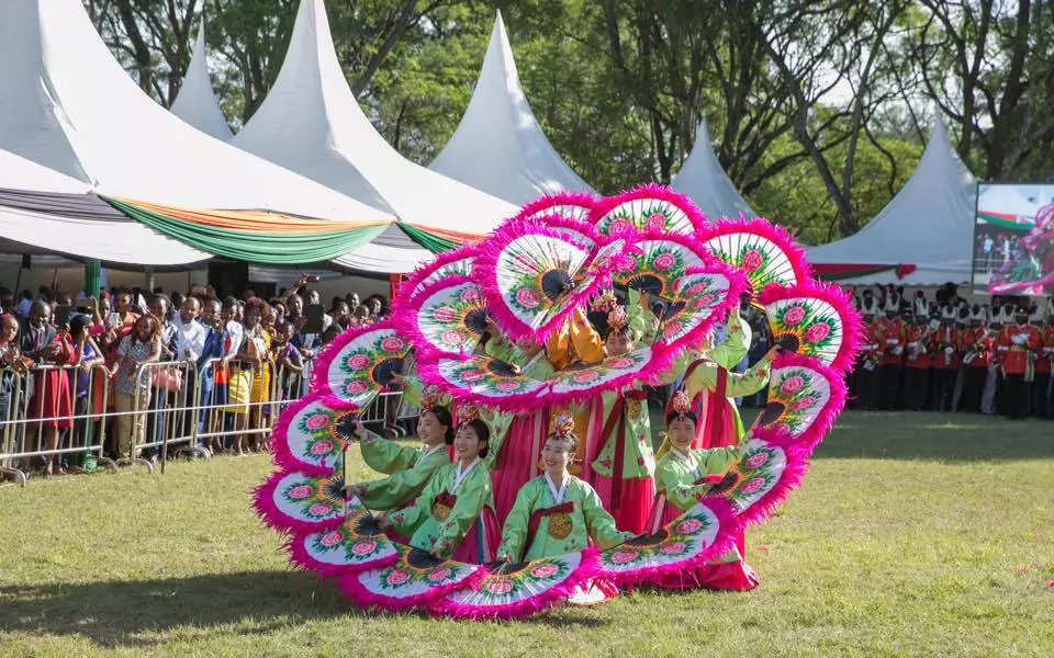 South Korea's youth perform at Kenya's State fete