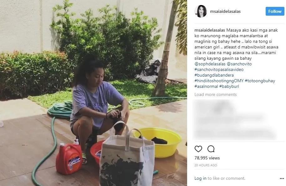 Ai-ai Delas Alas' children's behavior at home is very impressive