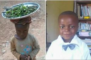 Mchuuzi wa umri mdogo agusa nyoyo za watu, soma walichomfanyia(PICHA)