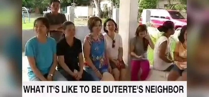 What would you do if President Duterte is your next-door neighbor?