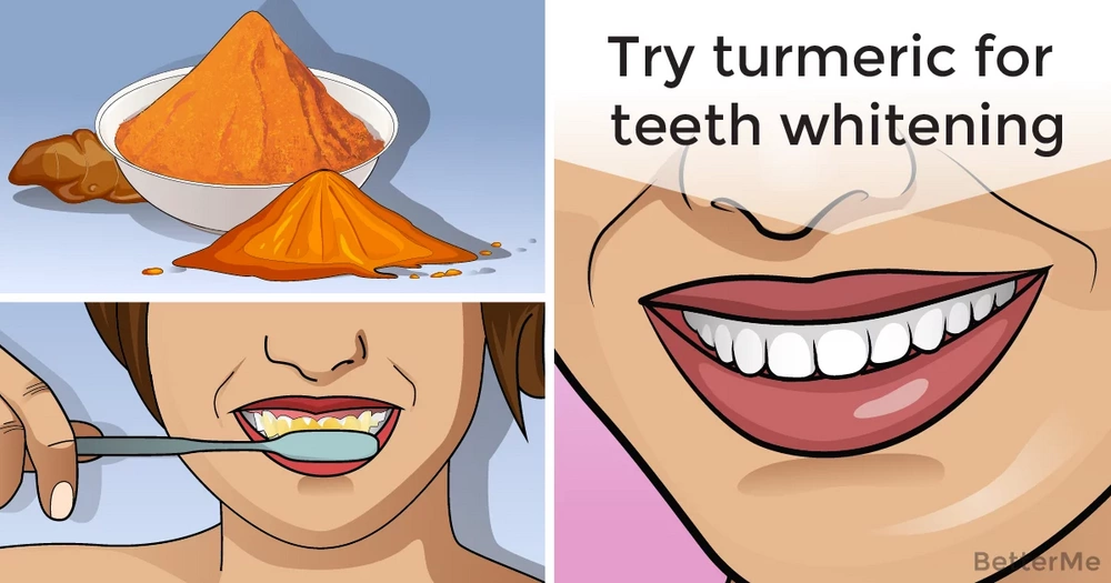 Try turmeric for teeth whitening