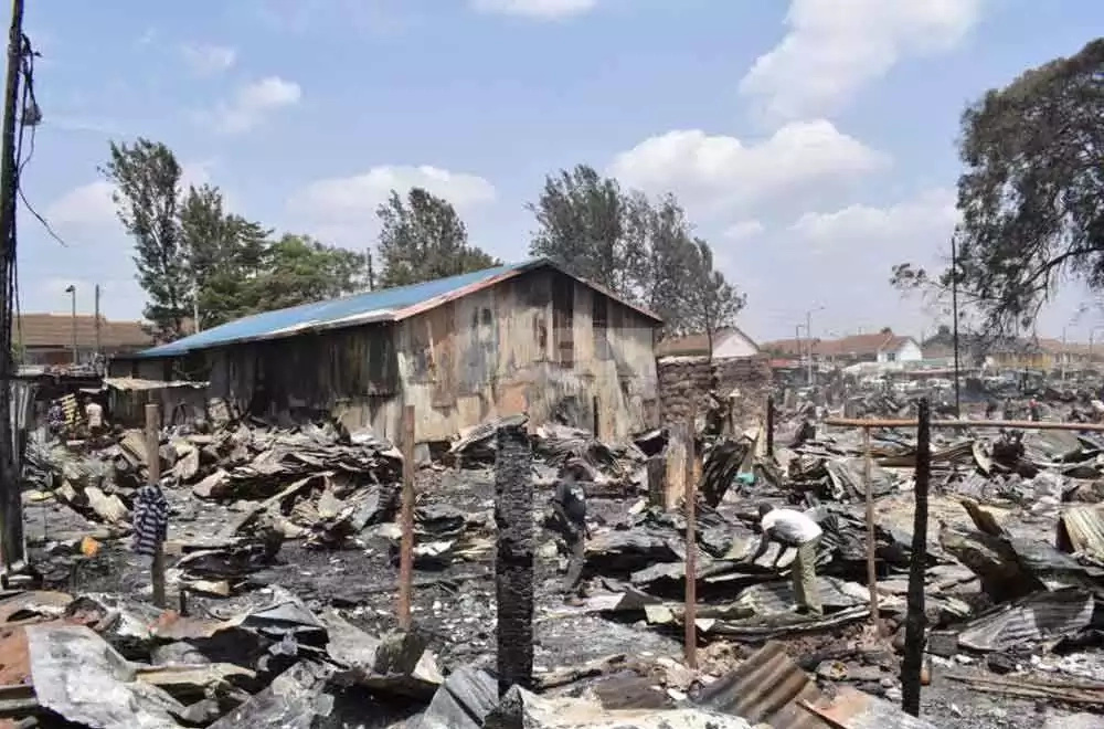 Church building remained standing tall after fire razed all buildings in Kijiji slums fire tragedy