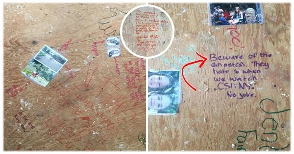 Owner comes across eerie notes and pictures when remodeling the house