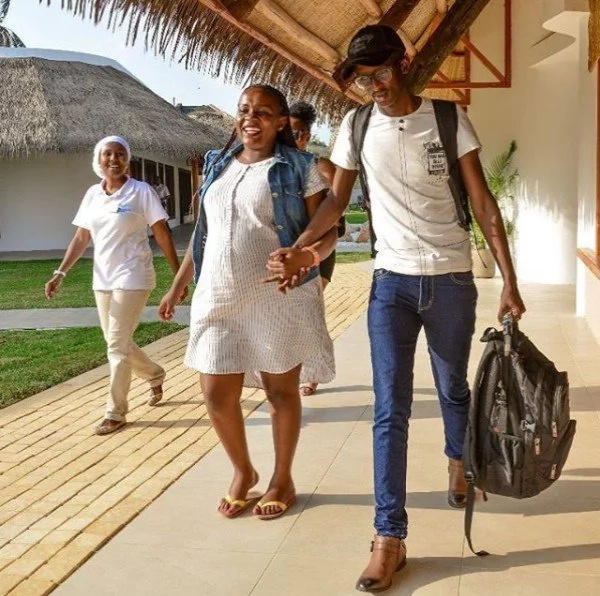 Njugush and heavily pregnant wife induce jealousy as they take their romance to the beach