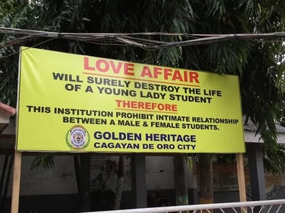 Catholic bishops do not approve of Cagayan de Oro college's 'love ban'