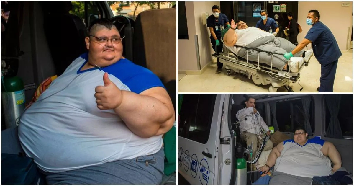 This world's fattest man who once weighed 595kg set to undergo life-changing surgery (photos, video)