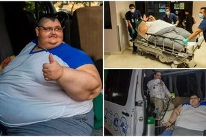 World's FATTEST man who once weighed 595kg set to undergo life-changing surgery (photos, video)
