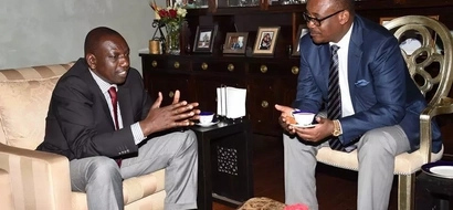 PHOTOS: DP Ruto Consoles Governor Kidero For Loss Of His Father