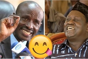 Raila 'gives' KNUT's Wilson Sossion a 'good' job