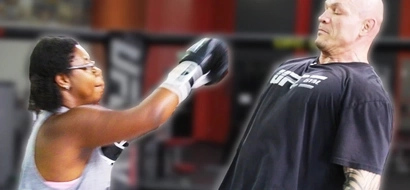 Can a regular person land a punch on a pro UFC fighter? Watch this video and find out!