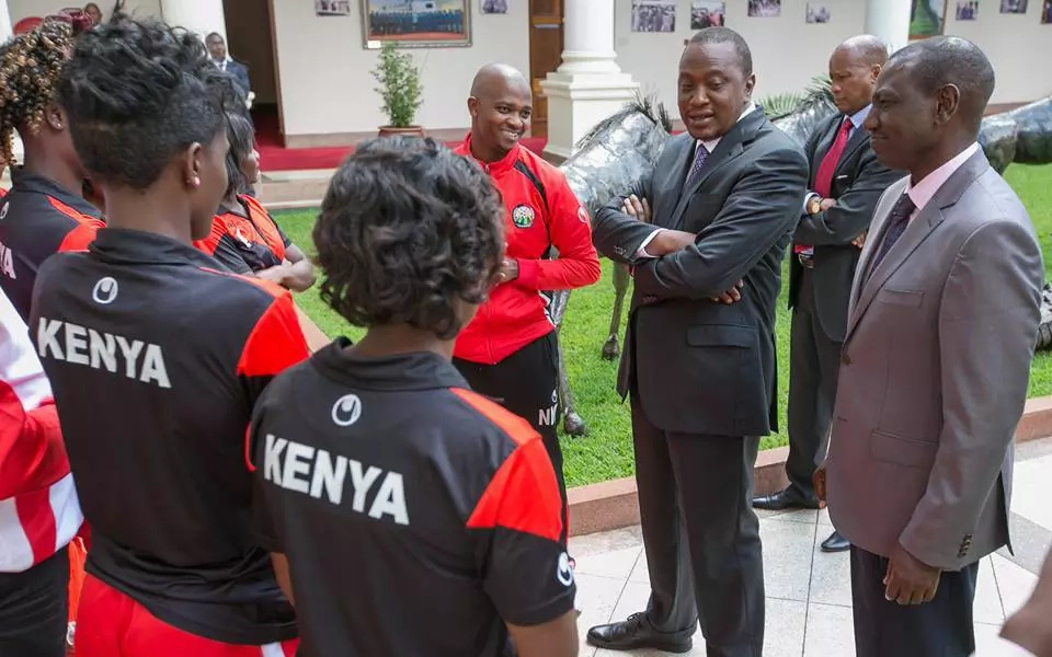 Uhuru and Ruto host Harambee Starlets