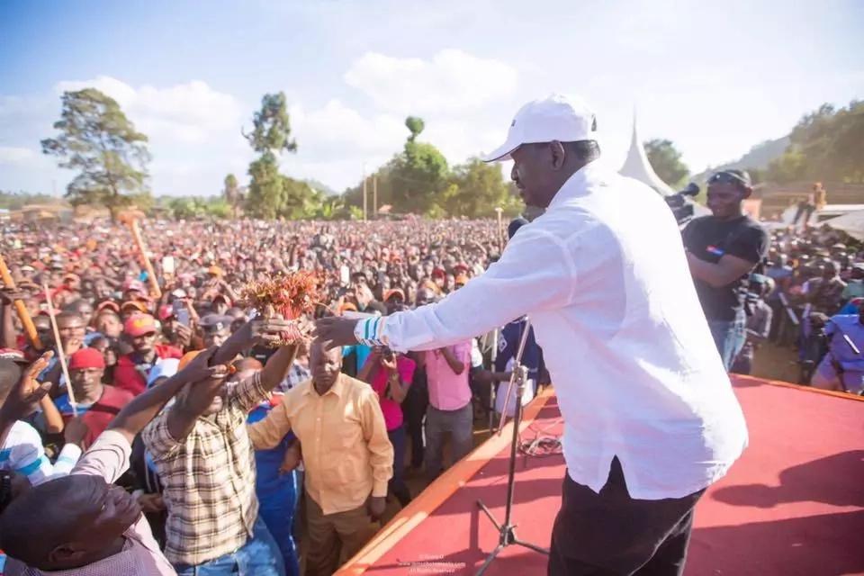 Raila praises key Jubilee member from Mt. Kenya, begs him to join NASA