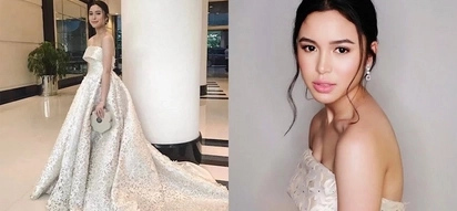 Claudia Barretto dazzles everyone with the intricate white gown she wore for prom night