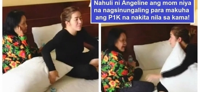 Ang bilis ng kamay! Angeline Quinto uses P1K-bill to prank her mother in a hotel room