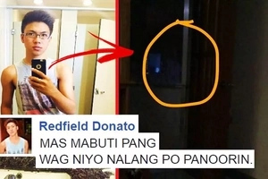 This terrified netizen shared a creepy video of a white lady standing outside his door: 'SERYOSO, HINDI PO EDITED YUNG VIDEO'