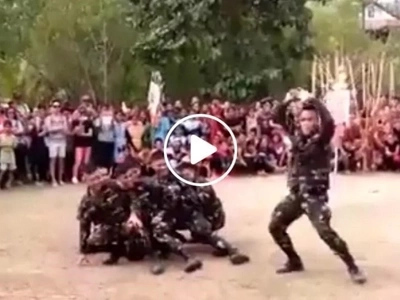 Super-cool Pinoy soldiers get into the groove in this epic dance battle