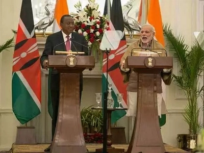 Uhuru's delegation to India captured in embarrassing photo