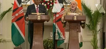 Photo shows how Kenyan delegation 'embarrassed' Uhuru in India