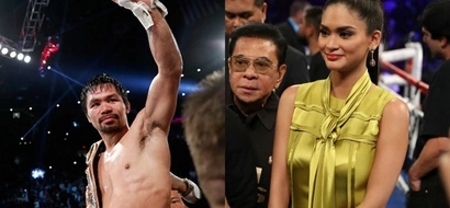 Nagsama ang Pinoy prides! Pacman fan Pia Wurtzbach joins Team Pacquiao in Las Vegas