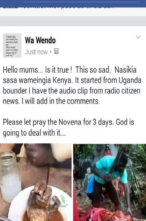 Panic as cannibals from Uganda allegedly enter Kenya