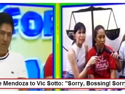 Vic Sotto expresses his 'tampo' towards Maine Mendoza during Sugod Bahay segment on 'Eat Bulaga!'