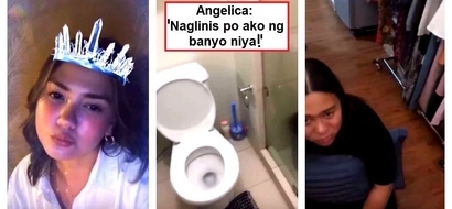 Artistang hindi maarte! Angelica Panganiban amazes netizens by cleaning her friend's CR!