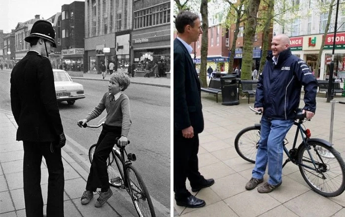 Before And After: Photographs Of The Same People Taken +30 Years Apart