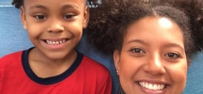 Beautiful just like you! Teacher ties her hair in BUNCHES to support pupil bullied for her afro hairstyle (photo)