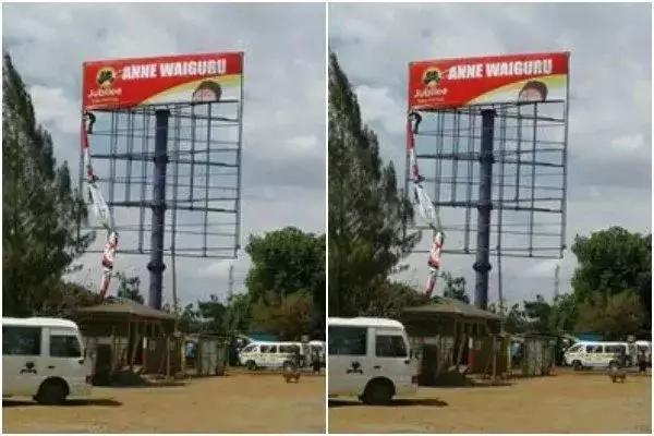 Mabango ya kampeni ya mwaniaji wa Jubilee yaliharibiwa eneo la Kati