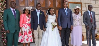 President Uhuru spent his 28th wedding anniversary at a friend's wedding, do you know the couple?