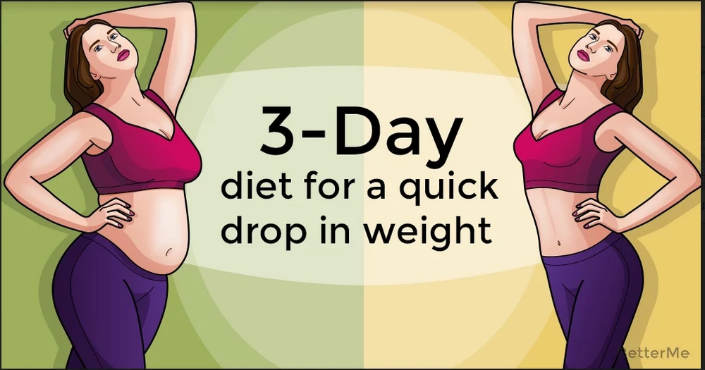 A 3-day diet to drop in weight quickly