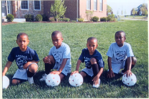 The quadruplet brothers as kids. Photo: NBC News