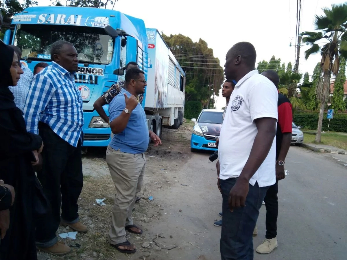 Hassan Joho's fiercest rival's campaign vehicle damaged in dawn attack