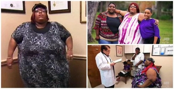 Woman weighing 272kg sheds 53kg after her mom died of extreme OBESITY (photos)