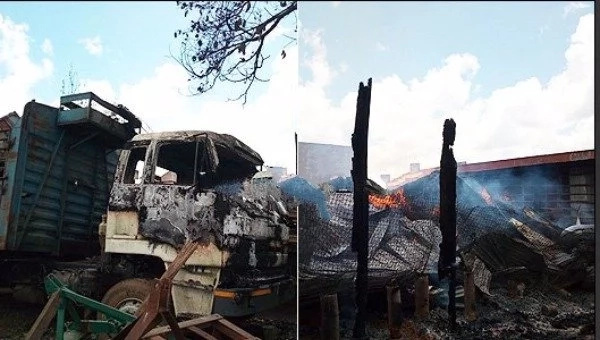 Angry supporters burn property of Wafula Chebukati's neighbour after election results