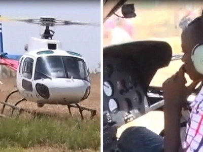 Form one student arrives to school in a chopper, bringing operations to a standstill