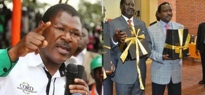 Wetangula differs sharply with Raila, Kalonzo on CORD presidential candidate