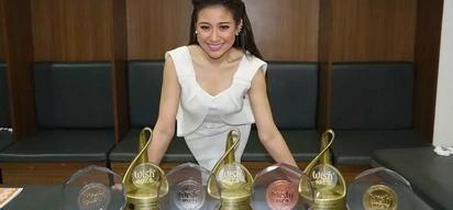 Pumakyaw ng tropeo! Morisette Amon wins 6 trophies in Wish 107.5 Music Awards