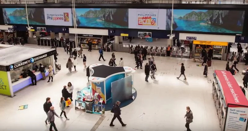 WATCH: PH Tourism uses virtual reality to take over London's Waterloo station