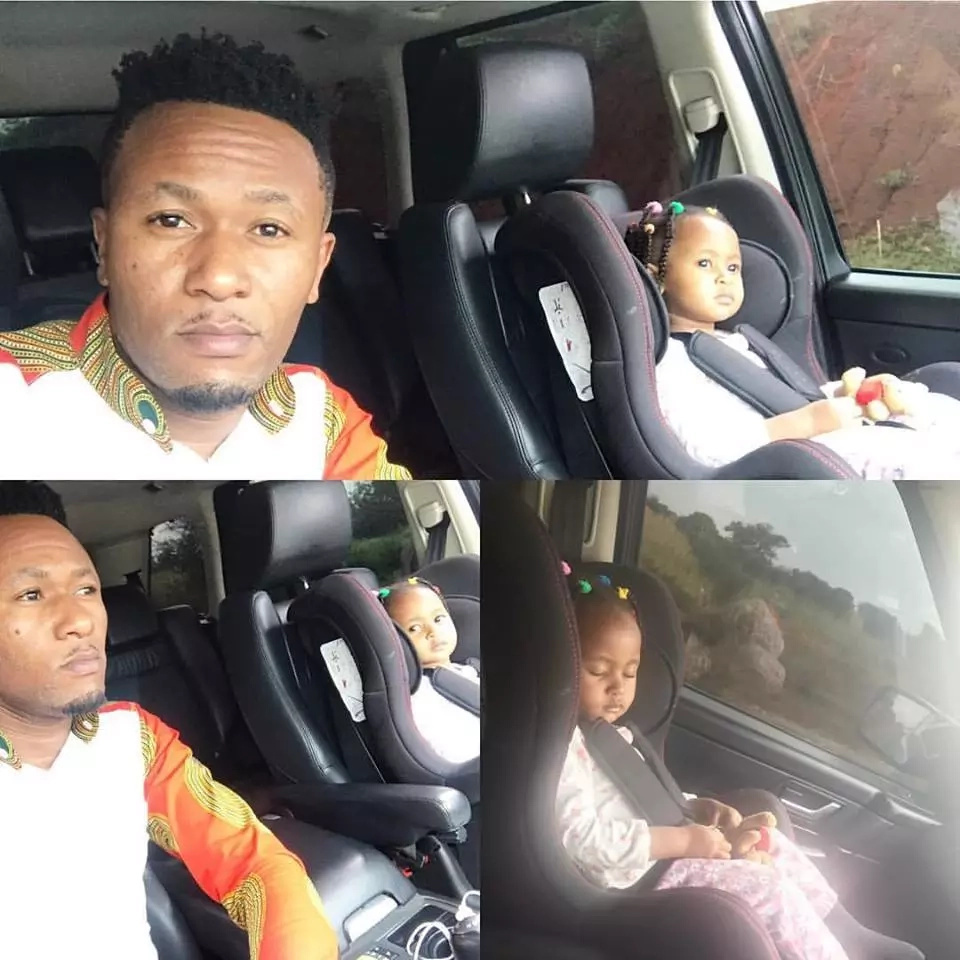 Did DJ Moh endanger his daughter's life while taking a road trip? (photos)