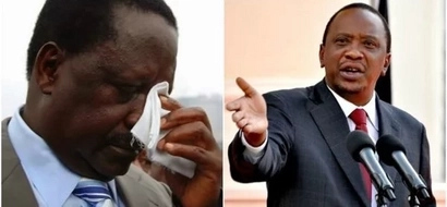 Raila takes on Uhuru through twitter but the president's response is unbelievable